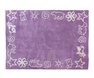Alfombra 100% en algodón Prado, lila– 120x160cm