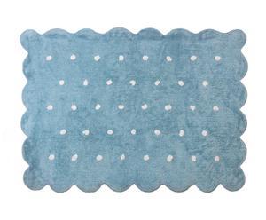 Alfombra de algodón Cookie, celeste – 120x160 cm