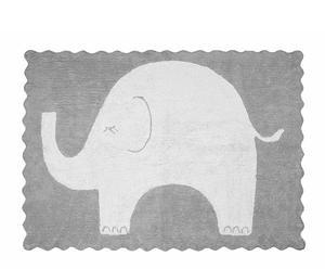 Alfombra de algodón Elefantito, gris – 120x160 cm
