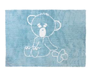 Alfombra de algodón Oso, celeste - 120x160 cm