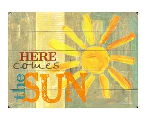 Cuadro en madera de abedul Here comes the sun – 40,6x30,5cm