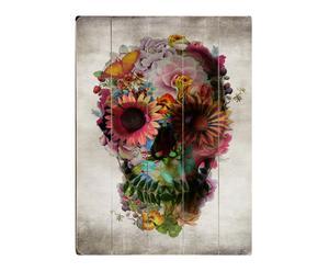 Cuadro Floral Skull - 50,8x35,6cm