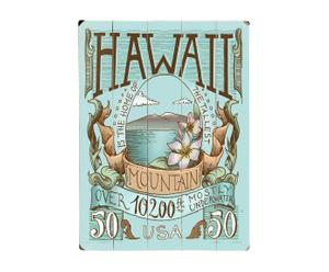Cuadro impreso en madera de abedul Hawaii