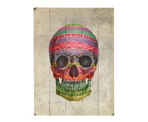 Cuadro en madera de abedul Navajo Skull - 30,5x40,6 cm