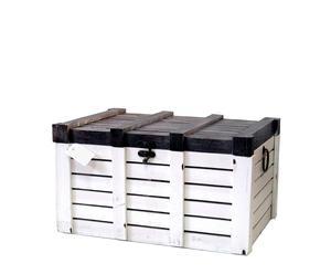 Baúl de madera de abedúl I - blanco y negro