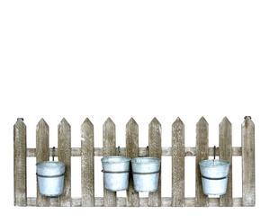 Set de valla de madera con 4 cubos de zinc I