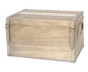 Baúl en madera y polipiel XL