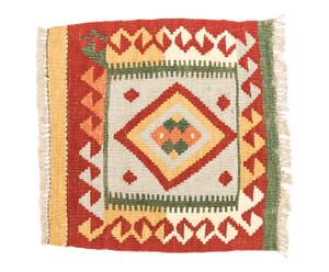 Kilim artesanal de lana Aasmaa - 50x50 cm