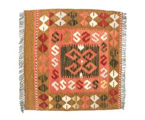 Kilim artesanal de lana Atira - 50x50 cm