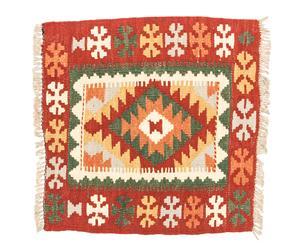 Kilim artesanal de lana Atiya - 50x50 cm