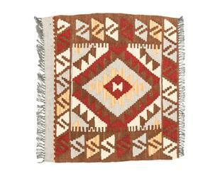 Kilim artesanal de lana Aviva - 50x50 cm