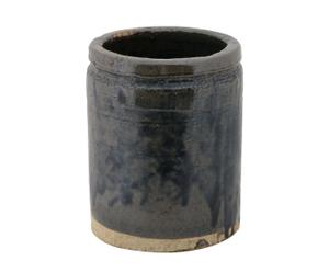 Macetero de cerámica – marrón y ocre