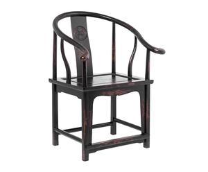 Silla china de madera de cedro - negro