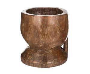 Maceta en madera de pino Oriental - marrón