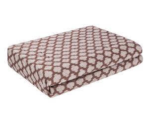 Funda de sofá de poliéster y algodón Geométrico, chocolate – 115x70cm