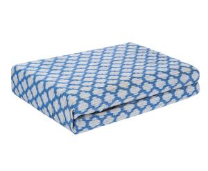 Funda de sofá de poliéster y algodón Geométrico, azul – 185x140cm