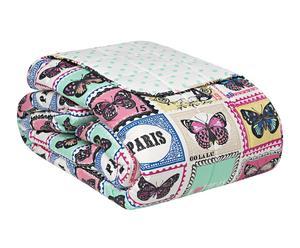 Edredón de algodón Butterfly Stamp - 260x180cm
