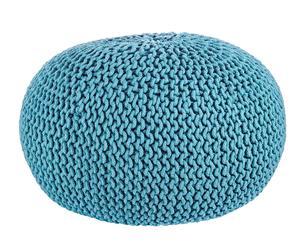 Puf redondo en algodón, azul – Ø80