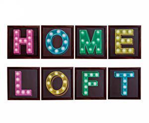 Set de 8 cuadros con luces de LED Home Loft