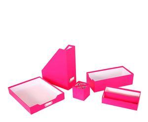 Set de 5 accesorios para escritorio - rosa