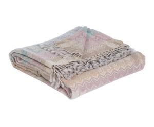 Manta de lana Geometría I - pastel