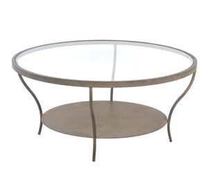 Mesa de centro redonda en forja patinada