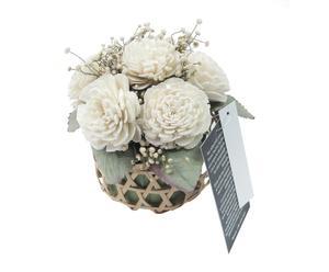 Centro de mesa con flores artificiales  II