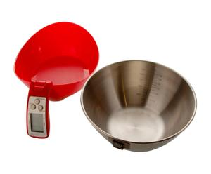 Jarra medidora electrónica para repostería - rojo
