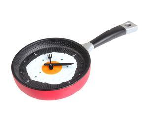 Reloj de cocina en forma de sartén – rojo