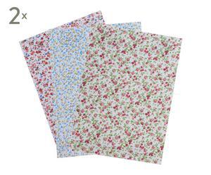Set de 6 telas adhesivas Flores Allison