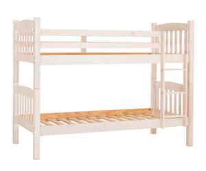 Litera con cajones en madera Kit - blanco decapado