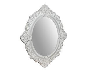 Espejo enmarcado en madera DM Oval I - blanco