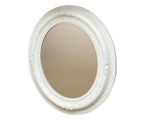 Espejo enmarcado en madera DM Oval II - blanco