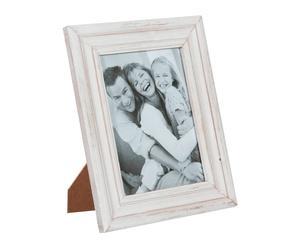 Marco de fotos en madera DM - blanco envejecido