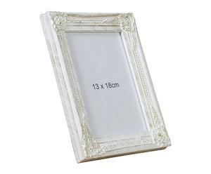 Marco de fotos de madera DM, blanco - 13x18 cm