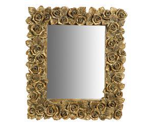 Espejo de pared en resina I - dorado