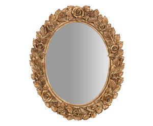 Espejo de pared en resina II - dorado