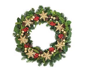 Vinilo Guirnalda de Navidad - verde, rojo y amarillo