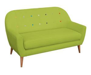 Sofá en madera de pino Oslo – verde y multicolor