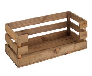 Caja de pan en madera de pino, envejecida - 30x80 cm