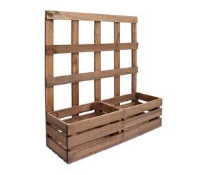 Jardinera de madera de pino - envejecida