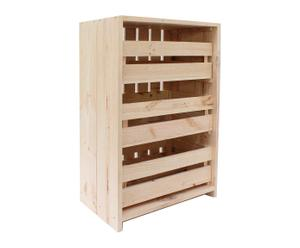 Cómoda de madera de pino - natural