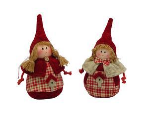 Set de 2 muñecas caperucita - rojo