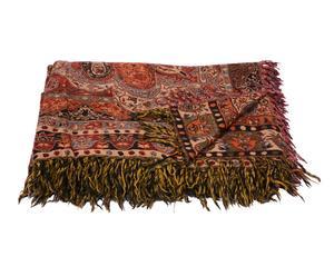 Manta tejida a mano en lana y seda Sabûr – 220x270 cm