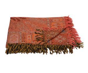 Manta tejida a mano en lana y seda Tawwâb – 220x270 cm