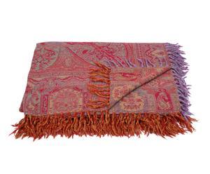 Manta tejida a mano en lana y seda X – 220x270