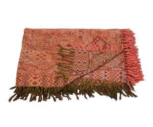 Manta tejida a mano en lana y seda XII – 220x270