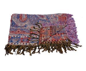 Manta tejida a mano en lana y seda Badr – 220x270 cm
