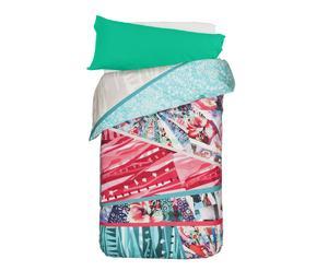 Set de funda nórdica y almohada de doble cara para cama de 90/105cm Collage