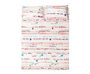 Set de sábana encimera y 2 fundas de almohada de doble cara para cama de 150/160cm Paint Party